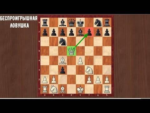 Шахматные ловушки в дебюте для начинающих (видео)